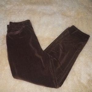 Ralph Lauren Petite Velour/Velvet Pants